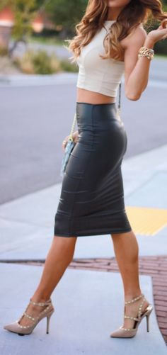 long leather