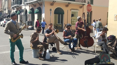 Cajun brass band on Bourbon Street